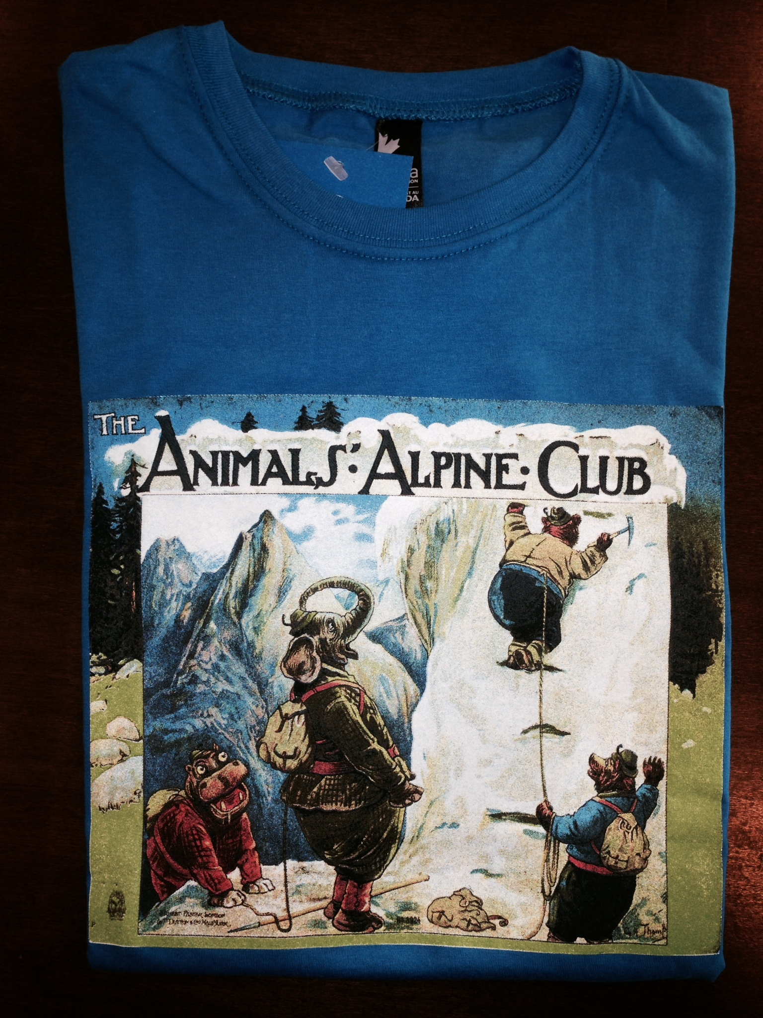 Animals' Alpine Club T-shirt (Navy Blue - Kids Size 10)